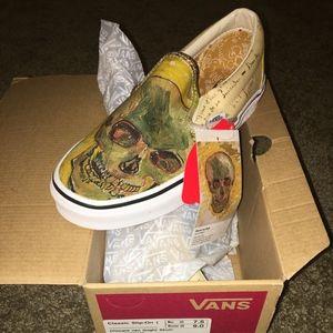 NIB Vans Van Gogh Skull Slip-Ons M 9 W 7.5